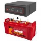 Exide XTATIC 850VA Pure Sine Wave Inverter and Exide Insta Brite IB1500 150AH  Flat Plate Battery