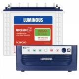 Luminous Eco Watt +650VA Square Wave Inverter & Luminous Red Charge TT18000 150AHTall Tubular Batter