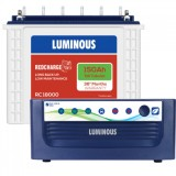 Luminous Eco Volt +1050 Sine Wave Inverter & Luminous Red Charge TT18000 150AH Tall Tubular Battery