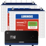 Luminous Zelio +1700VA Sine Wave Inverter & Luminous Red Charge TT18000 150AH Tall Tubular Battery